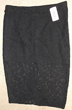 FOREVER 21 BLACK LACE MIDI SKIRT M MEDIUM BNWT UK 12