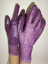Briers Seed & Weed ladies gardening work Spring purple medium gloves Easter gift