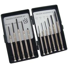 AM-TECH 11PC PRECISION SCREWDRIVER SET PHILLIPS FLAT HEAD JEWELLERS WATCH L0500