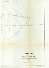 "Map of the West End of The Harbor, Erie, PA, 1854, 13"" x 18"""