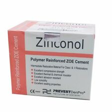 Dental Polymer Reinforced Zoe Cement Zinconol Powder & Liquid Kit