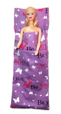 Flannel Sleeping Bag for Barbie Dolls-Butterfly Print