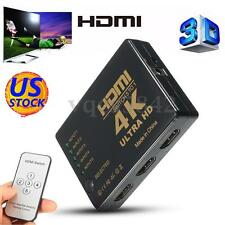 3D 5 PORT 1080P HDMI Splitter Switch Selector Hub +IR Remote+ Cable For HDTV PS3