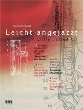 Libro-Un poco Jazzed De Alto Y Tenor Sax-Schmitz
