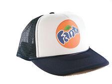 Fanta orange soda Trucker Hat mesh hat snapback hat navy