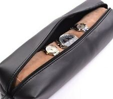 Cosmos ® Black Color PU Leather Watch and Bracelet Travel Storage Roll Bag NEW