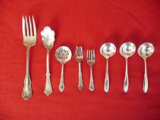 Lot of 8 Assorted Cool Vnt Silverplate Utensils Royal Derby Silver Community WOW