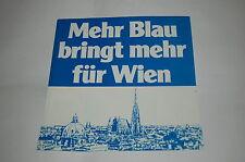 """7"""" FLEXI/MEHR BLAU BRINGT MEHR FÜR WIEN/FPÖ WERBUNG/1978/SCHALLFOLIE-MEGARAR"""