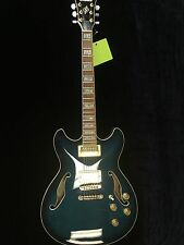 Ibanez Artcore AS93 Blue Finish Hollowbody Electric Guitar w/ Hard Case NICE!