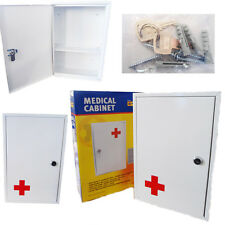 Wall Mount Medical Cabinet Box First Aid Case Stainless Steel Lockable 2 Key Set