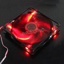 Beauty 14cm 140mm Red LED 140x25mm 12V 3Pin+4Pin Computer PC Case Cooling Fan