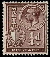 """MALTA 131 (SG157) - King George V and Arms """"1926 Printing"""" (pa45279)"""