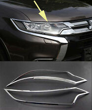 Chrome Front Head Light Lamp Cover Trim for 2016 Mitsubishi Outlander new