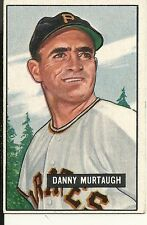 1951 Bowman #273 Danny Murtaugh Pirates EX+ Nice Card BK $60. SHIPS NEXT DAY