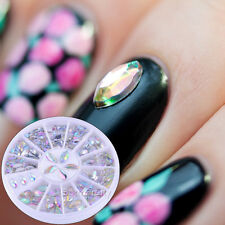 3.6mm-4.8mm Nail Art Strass Nagel Glitzersteine Charms Sticker UV Gel Dekoration