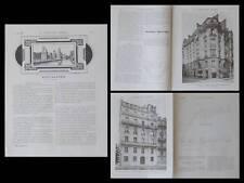 LA CONSTRUCTION MODERNE n°32 1907 MERIDA DEL YUCATAN, UMBDENSTOCK, MEXIQUE