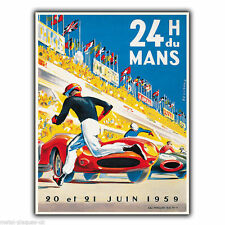 24 Heures du Mans Le Vintage Retro Advert METAL WALL SIGN PLAQUE poster print