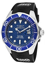New Invicta Men's 12559 Pro Diver Blue Dial Black Polyurethane Watch
