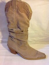 Dune Brown Mid Calf Suede Boots Size 41