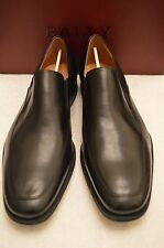 "Men's Bally Size 12 (D) Black Lambskin ""Thor"" Venetian Loafer Style Shoes"