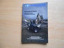 Owners manual (maintenance Safety) Polaris sportsman x2 500 EFI año del modelo 2006