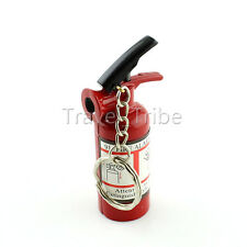 EDC Mini Fire Extinguisher Style Refillable Butane Cigarette Lighter Key Ring