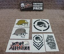 "Metal Mulisha stickers "" Tatto Variety Pack ""  Sticker --Free Shipping"