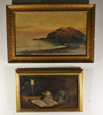 Two Antique Oil on Canvas Paintings Lot 57