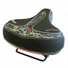 Wide BIG BUM BICI BICICLETTA GEL Cruiser Comfort Extra Sporty SOFT PAD SADDLE SEAT