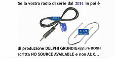 "KIT cavo aux Fiat 500 dal 2014 in poi radio Bosch ""no source available"" da 1,4mt"