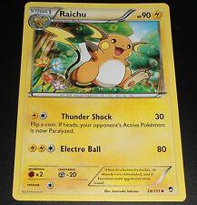 Raichu 28/111 XY Furious Fists NEAR MINT Pokemon Card