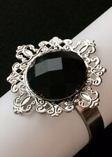 10 Black Diamond Napkin Rings Bridal Shower Wedding Party Table Decoration Favor