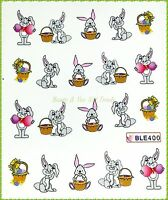 Nailart -Tattoos - Nail Sticker - Tattoo - Aufkleber Ostern Osterhase Hase 400