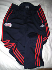 USA WORLD CUP SOCCER VTG ADIDAS JERSEY SWEATPANTS-LOGO PATCH-SEWN STRIPES-NCE-L