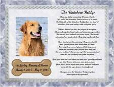 Personalized Pet Memorial Poem The Rainbow Bridge For Loss Of Dog