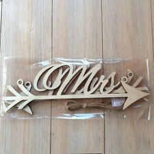 Rustic Wood Wedding Sign Mr & Mrs Arrow Signs Wedding Party Chair Decors BeautyO