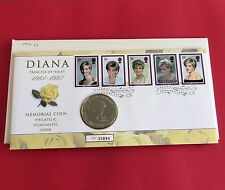 1999 DIANA PRINCESS OF WALES MEMORIAL B/UNC £5 CROWN - coin cover