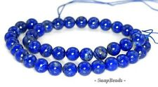 8MM AZURA LAPIS LAZULI GEMSTONE AA BLUE ROUND 8MM LOOSE BEADS 7.5""