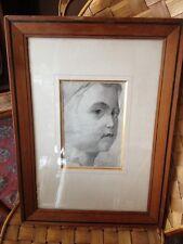 Dessin Portrait d'enfant , XIX°.