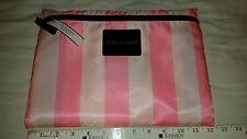 NWT Victoria Secret Pink White Striped Packable Tote Bag Weekender Bag