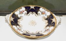 Victorian Coalport China Batwing Cobalt Blue Tazza Cake Stand Comport 25cm