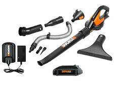 WG545.1 WORX 20V Max Lithium Blower/Sweeper with 8 Clean Zone Attachments