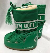 Kids Tecnica The Original Moon Boots Green Youth EU27/30 White Ski Snow Booties