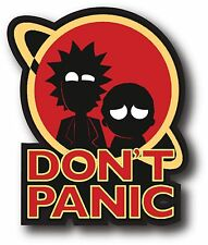 RICK AND MORTY DON'T PANIC ADULT SWIM DECAL STICKER NOVELTY 3.5""