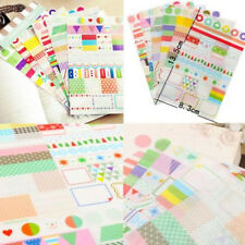 6pcs/SET Transparent Calendar Scrapbook Diary Book Decor Paper Planner Sticker C