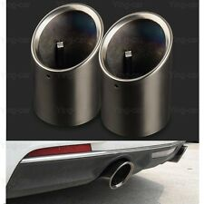 2x black Stainless Steel Exhaust Muffler Tail Pipe Tip Tailpipe for Cadillac ATS