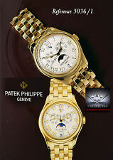 Patek Philippe 5036 Annual Calendar 18k Yellow Gold Watch Box/Papers 5036/1J