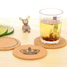 4 pcs Cork Wood Drink Coaster Tea Coffee Cup Mat Pad Kitchen TableDecor Placemat