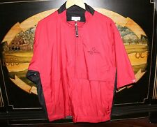 Mens Large Red Golf Half Sleeve WindShirt Cutter & Buck BERKSHIRE RED CROSS