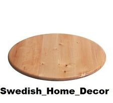 "Ikea Lazy Susan Turning Function 15"" Round New ALL WOOD Kitchen Dining Storage"